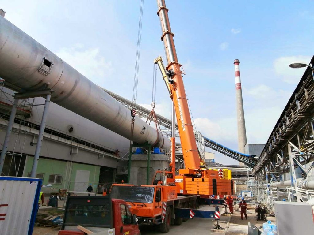 installation of lime rotary kiln