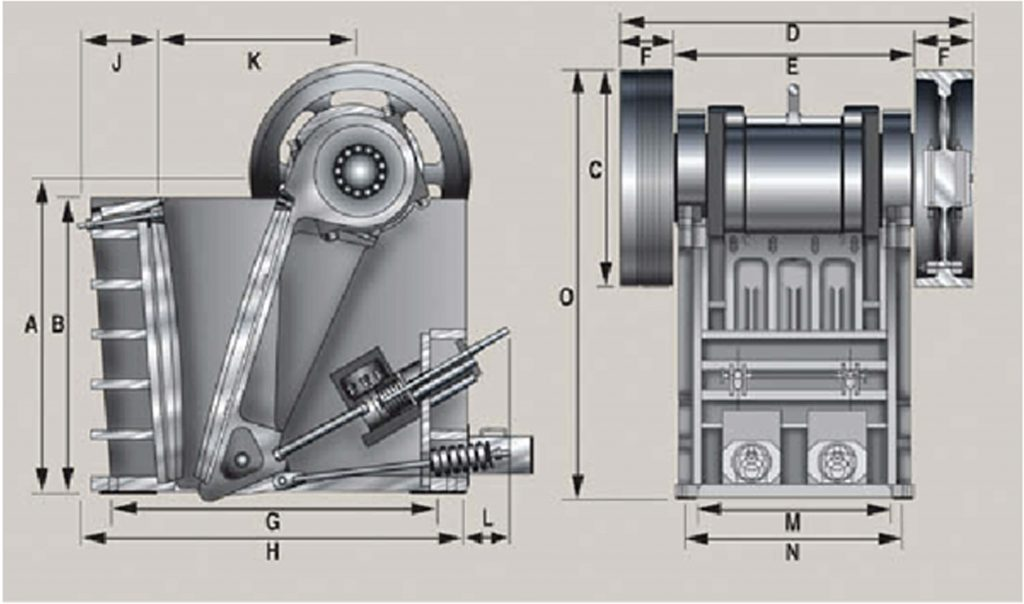 structure in jaw crusher