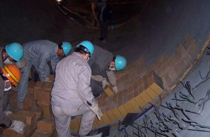 Construction of rotary kiln bricks