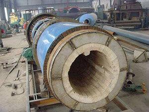 Kiln pipe of coal fired rotary kiln